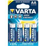 Varta High Energy Alkaline LR6AA Battery - Pack of 4