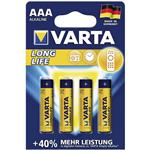 Varta LongLife Alkaline LR03AAA Battery - Pack of 4