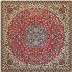 رومیزی ترمه ابریشمی خانه ترمه ایران طرح شاهپسند ممتاز کد 5525 سایز 100 × 100
