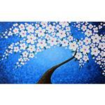 تابلو نقاشی گالری دست نگار طرح شکوفه های برجسته کد 105-07