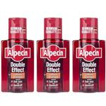 Alpecin Double Effect Caffeine Anti Dandruff Shampoo 200ml Pack Of 3