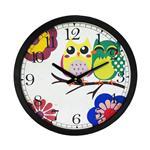 ساعت دیواری روستیک مدل Owl