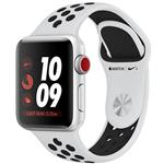 ساعت هوشمند اپل واچ سری 3 مدل Nike Plus 38mm Silver Aluminum Case with Pure Platinum/Black Nike Sport Band