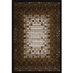 فرش ماشینی زمرد مشهد طرح 7505 زمینه قهوه ای