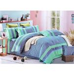 Narm Baft Colorful Bed Sheet Set 1 Person 3 Pieces