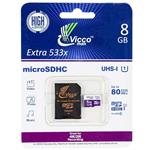Vicco Man Extre 533X UHS-I U1 Class 10 80MBps microSDHC Card With Adapter 8GB