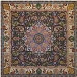 رومیزی ترمه ابریشمی خانه ترمه ایران طرح شهریار 6528 سایز 100 × 100