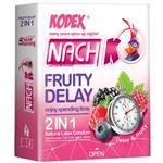 کاندوم ناچ مدل Fruity Delay بسته 3 عددی