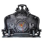 ساعت رومیزی برتاریو مدل پارسه مشکی نقره ای