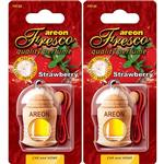 Areon Fresco Strawberry Car Air Freshener - Pack Of 2