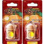 Areon Fresco Tangerine Car Air Freshener - Pack Of 2