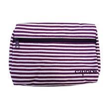 کیف لوازم آرایشی کاپریس مدل راه راه لنین Caprice Striped Linen Bag