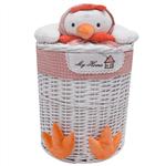 Elegant  Rooster Chick Straw Baskets Size Large