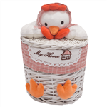 Elegant Rooster Chick Straw Baskets Size Small