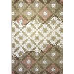 فرش ماشینی زمرد مشهد طرح 1702 زمینه صورتی