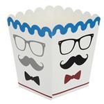 Mustache Popcorn Dish Pack Of 10