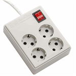 Farhan Electric FEM444  Power Strip 1.8m