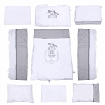 Pierre Cardin White Birdy Baby Bed Set 9 Pieces