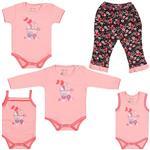 ست لباس نوزاد بیبی دی مدل کالسکه-بسته 5 عددی