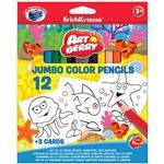 مداد رنگی 12 رنگ اریک کراوزه سری آرت بری مدل Jumbo
