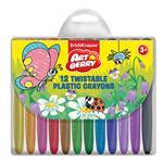 مداد شمعی 12 رنگ اریک کراوزه مدل Plastic