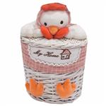Elegant RoosterChickSmall Cloth Basket
