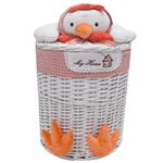 Elegant RoosterChickLarge Cloth Basket