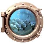 استیکر سه بعدی ویداوین طرح زیردریایی دلفین