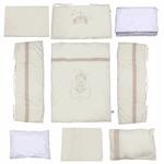 Pierre Cardin Cream Birdy Baby Bed Set 9 Pieces