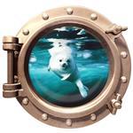 استیکر سه بعدی ویداوین طرح زیردریایی شیردریایی