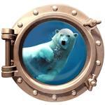 استیکر سه بعدی ویداوین طرح زیردریایی خرس