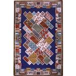 فرش ماشینی شنل پرسان کدs47 زمینه سرمه ای