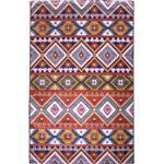 فرش ماشینی شنل پرسان کد s18 زمینه سورمه ای