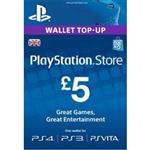PSN 5 Pounds Gift Card UK Region 2