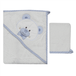 Albimini 311Blue Towel Set 2PcsPin
