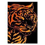 تابلو شاسی ونسونی طرح Tiger Art سایز 50x70 سانتی متر