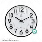ساعت دیواری مارال maral | گرد مشکی، صفحه سفید | کد 11