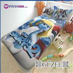 ست کاور و لحاف اسمورف ها GUZEL- The Smurfs 2