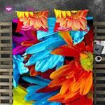 روتختی سه بعدی یک نفره طرح گلبرگ - GUZEL
