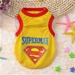 لباس سگ مدل سوپرمن زرد