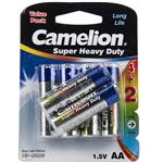 Camelion Super Heavy Duty AA Battery Pack of 6