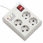 Farhan Electric FEP444 Power Strip With Voltage Protector