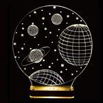 چراغ خواب سه بعدی نورا مدل کهکشان