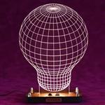 چراغ خواب سه بعدی  ویداوین مدل لامپ