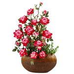 گلدان به همراه گل مصنوعی هومز مدل 30742