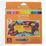 مداد رنگی 24 رنگ وک woke جعبه مقوایی