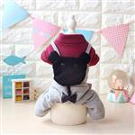 لباس سگ سرهمی موش سیاه سایز M