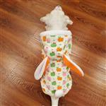 لباس سگ پالتوی گرم کلاه دار خرگوشی طرح دار