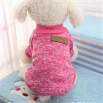 لباس سگ زمستانی بافتنی آستین دار (S)