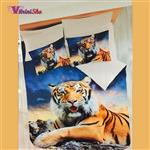 ست کاور لحاف سه بعدی دونفره طرح Tiger